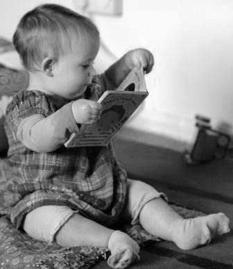 baby-with-book-b&w-CC
