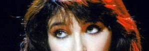 close up of Kate Bush's eyes