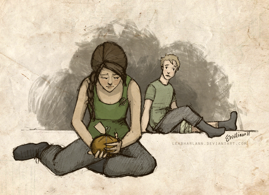 Katniss_and_Peeta_by_Leabharlann