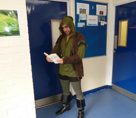 Serkan Kemal, PE teacher, as Robin Hood