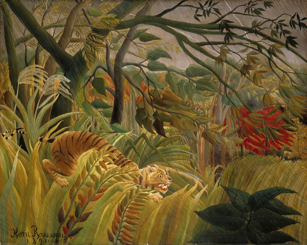 Tiger in a Tropical Storm (Surprised) by Henri Rousseau