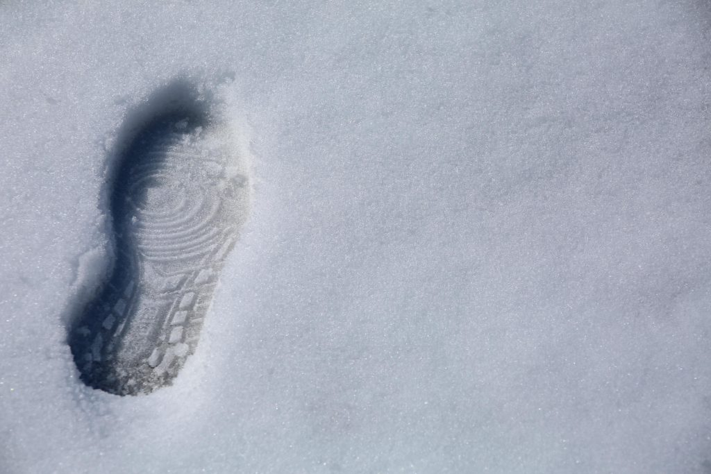 Footprint In Snow (Right)