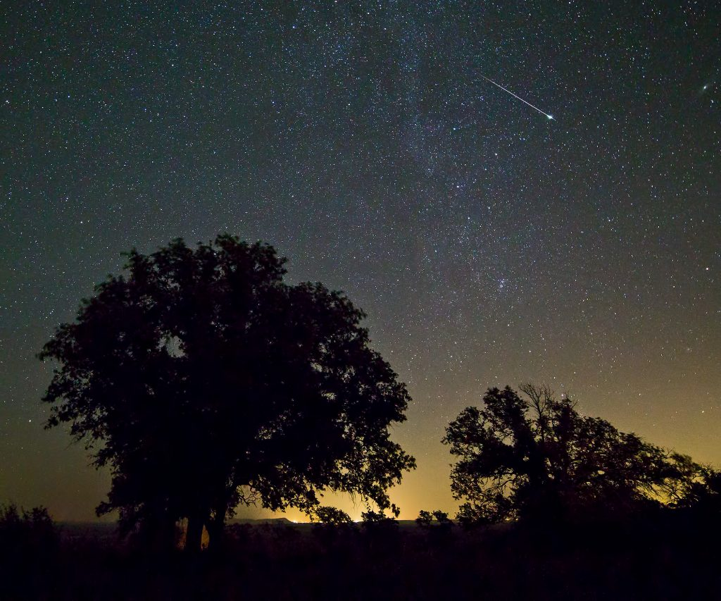 Shooting star across Texas Hill Country CC Ralph_Arveson