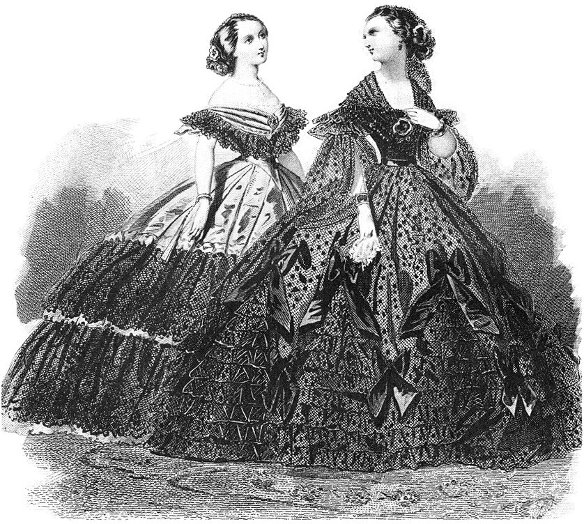 ball-gowns-pauqet-early-1860s