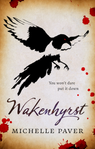 Cover of Wakenhyrst shows a magpie and bloodspots